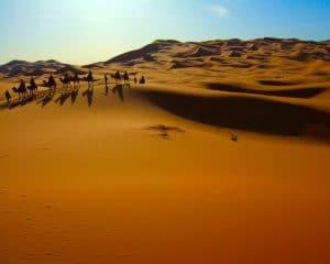 Viaje en bicicleta por Marruecos dunas
